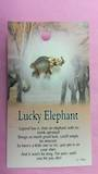 Lucky Elephant Angel Brooch