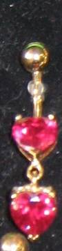 24kt gold and red hearts banana
